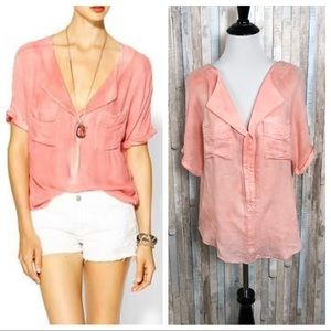 Free People XS Slouchy American Pie Top Blouse